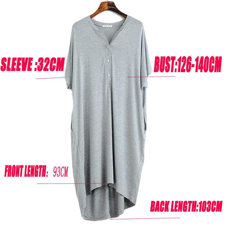 Camis/ón Talla Grande Mujer Verano Pijama Manga Corta Vestido Ropa De Dormir
