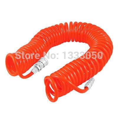 11.11 hot selling Orange Quick Connector 8mmx5mm Air Compressor Recoil Hose Tubing 9M 12 5mm dia quick fittings blue 8x5mm air compressor pu tubing hose 3 3ft