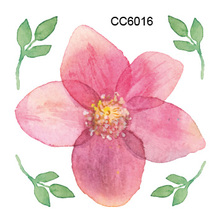 CC6016 6X6cm Little Cheapest Color Flower Peony Designer Temporary Tattoo Sticker Body Art Water Transfer Fake Taty For Face