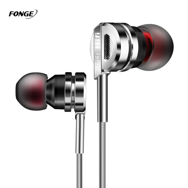 In-Ear Metal Stereo Portable Earphone Gaming Phone Earbud with Microphone HiFi Bass for Mobile Phone Auriculares for Samsung S8