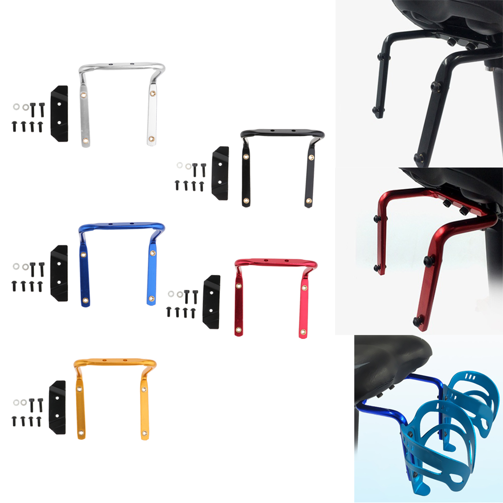 Bicycle Water Bottle Holder Cage Rack Adapter For Outdoor Cycling Moutain Rode MTB Bike Seat Post Back Double