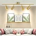 Северная Европа дизайнерский прожектор LED гостиная трек лампа магазин одежды Домашний фон настенный рельсовый свет Бесплатная доставка