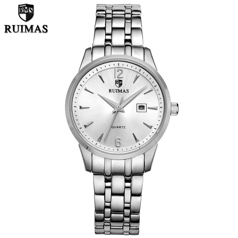 RUIMAS Top Brand Luxury Women Watches Fashion Dress Quartz Ladies Watch Relogio Feminino Montre Femme with Stainless Steel Strap classic simple star women watch men top famous luxury brand quartz watch leather student watches for loves relogio feminino
