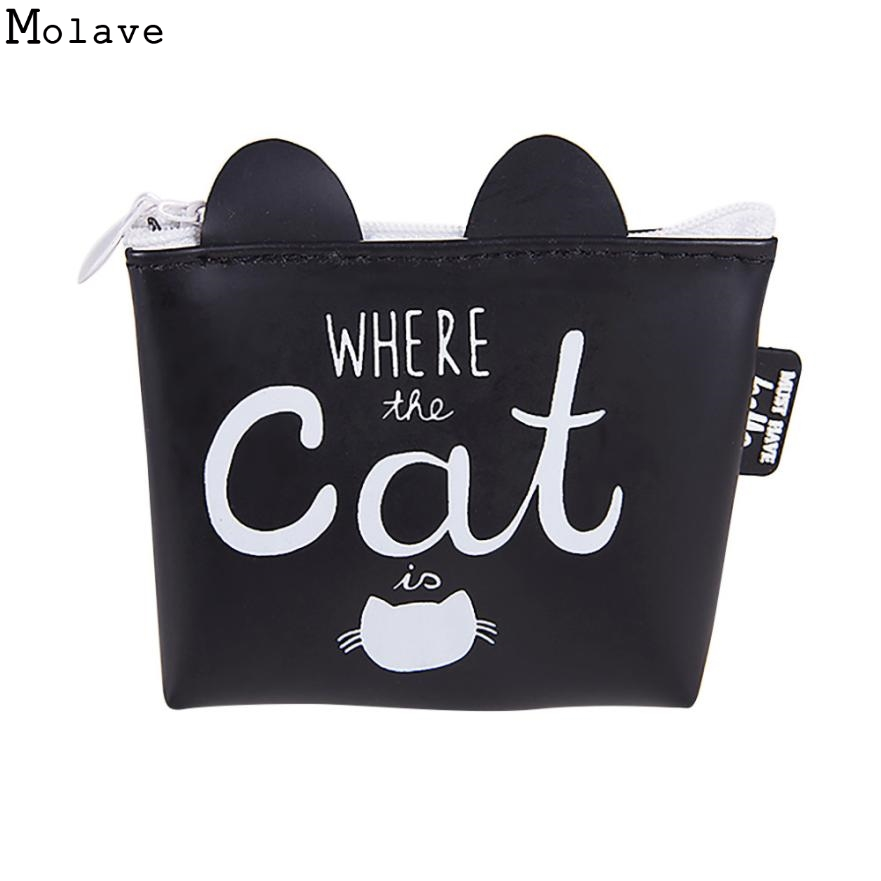 New Cute Style Novelty Animals Cat Zipper Plush Coin Purse Kawaii Children Coin Purse Women Wallet Mini Handbag D35JL14 yiyohipu cute style chi s cat novelty beautiful gril zipper plush square coin purse kawaii children bag women mini wallet