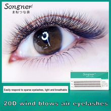 Super Soft Velvet Silk Material False Eyelashes 20 Root Hair 0.03 Single Cluster Thick Handmade Eyelash Makeup
