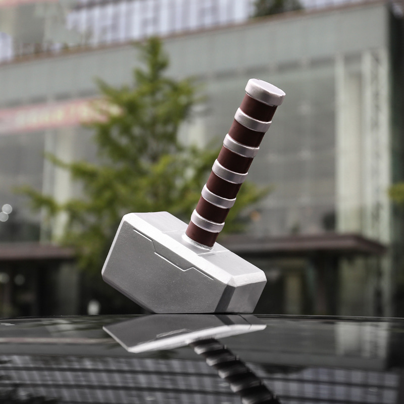3D Car Stickers For Marvel Avengers Thor Hammer Doll Decals Automobile Stickers Creative Funny Car styling Accessories наклейка stickers 15