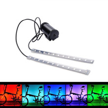 2017 12LED Cycling Light Waterproof MTB Road Bike Decoration Lamp New Design Safety Warning Bicycle Hub Light Bike Accessories