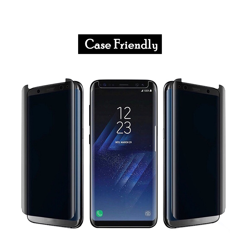 Super quality Screen Protector For Samsung S8 Anti Peeping Tempered Glass For Samsung S9 S8 plus Note 9 Privacy 3D Film 20Pcs in Phone Screen Protectors from Cellphones Telecommunications