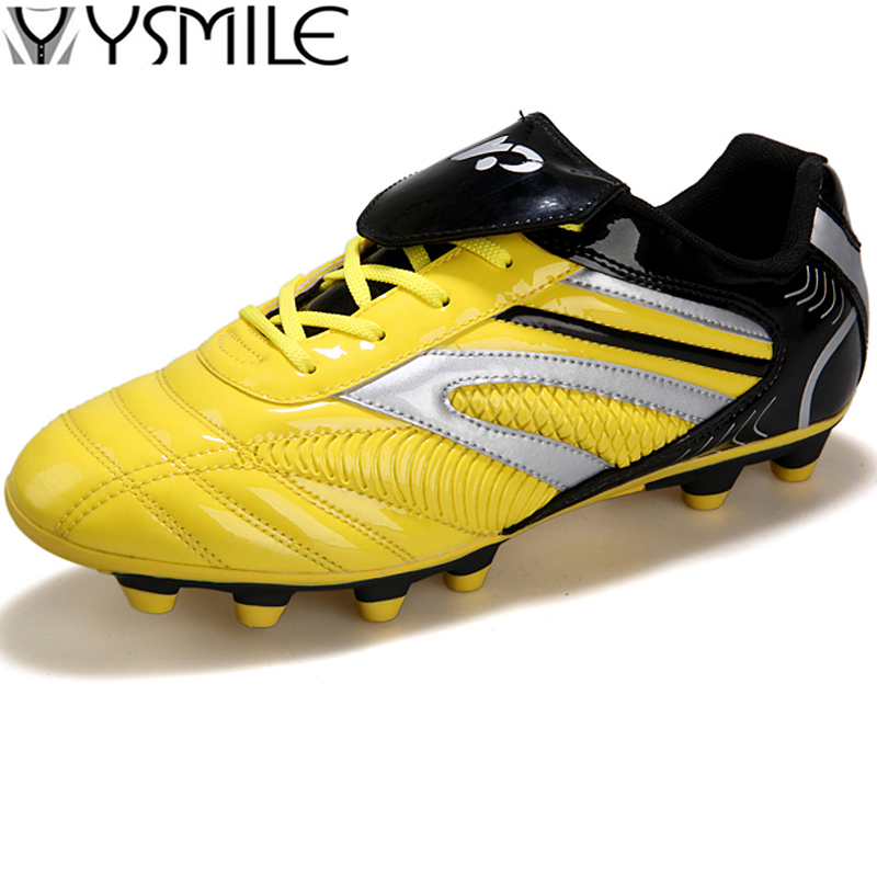 Long Spikes Cleats Turf Leather Kids Sneakers Boys Soccer Shoes Children Football Shoes Outdoor Child Sports