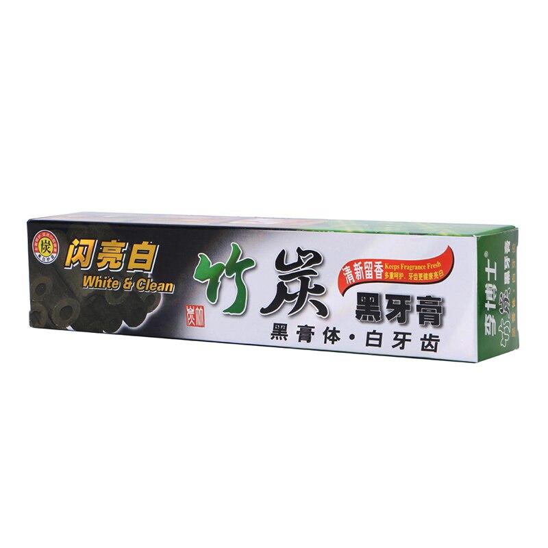Neue Weichen, Sauberen Bambus Whitening Schwarz Holzkohle Mundhygiene Pflege Zahnpasta Mint