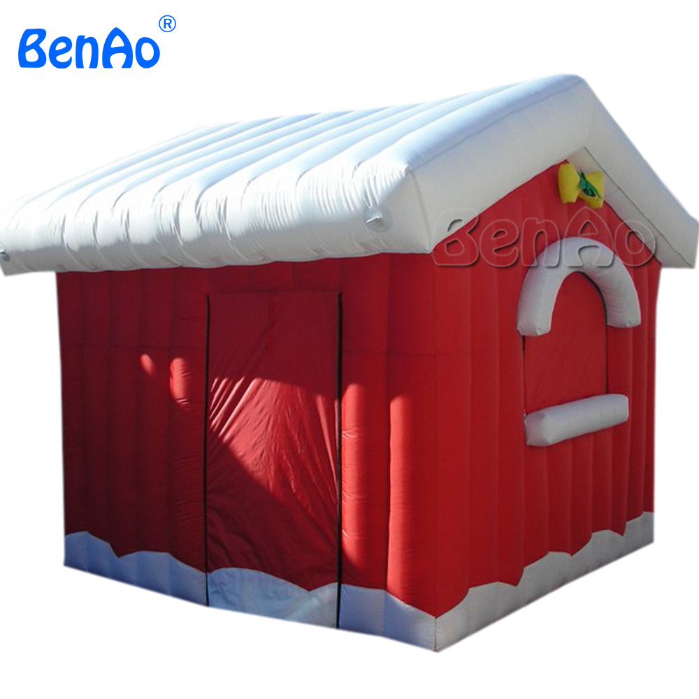 X065 2.5*2.5m inflatable house/santa claus, inflatable Christmas decoration with free shipping by DHL express 5m high big inflatable christmas santa claus climbing wall decoration 16ft high china factory direct sale festival toy
