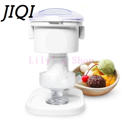 Electric ice crusher shaver ice slush maker automatic ice Smoothie making machine snow cone machine for milk tea shop EU US plug jiqi electric ice crusher shaver snow cone ice block making machine household commercial ice slush sand maker ice tea shop eu us