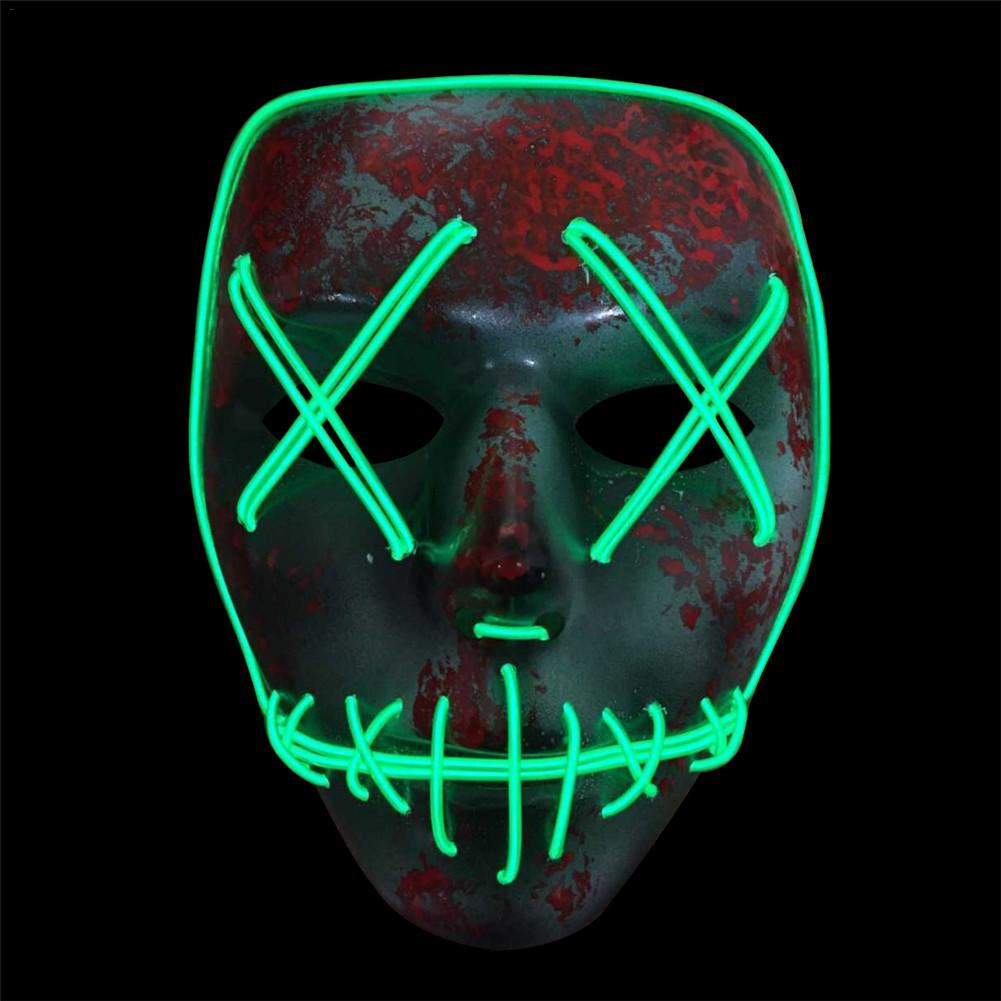 Novelty & Special Use The Cheapest Price Dropshipping El Wire Mask Light Up Neon Skull Led Mask For Halloween Party Theme Cosplay Masks Costumes & Accessories