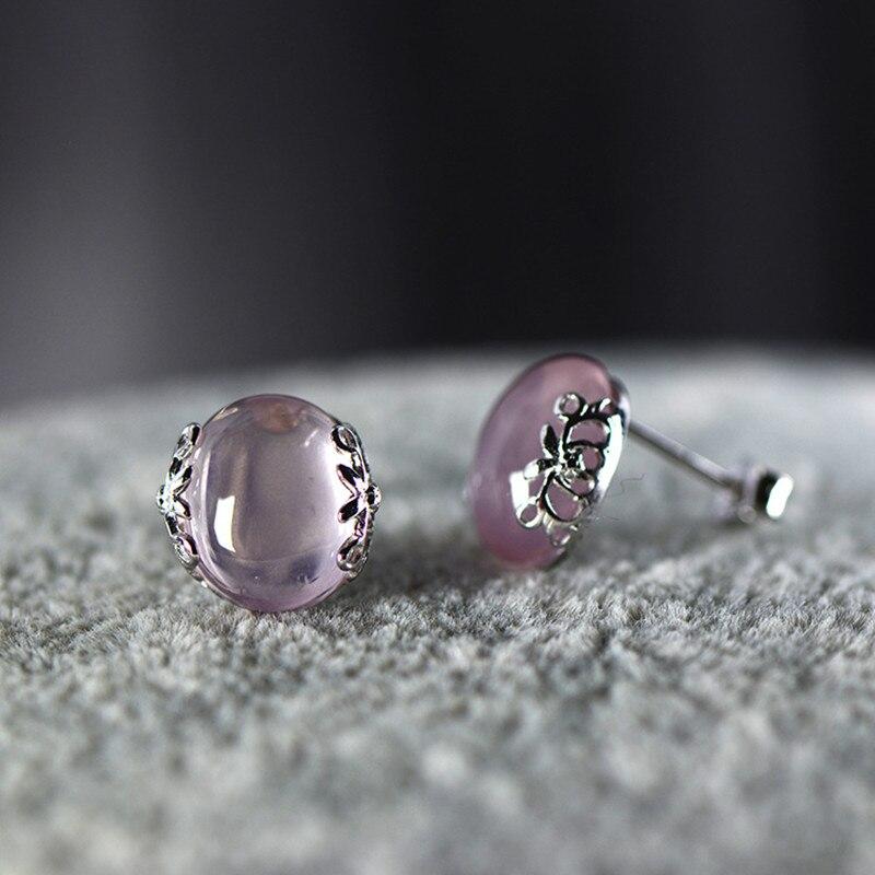 L & P mode romantique étoile rose cristal 925 argent boucles d'oreilles pour femmes bijoux en gros cadeau offre spéciale