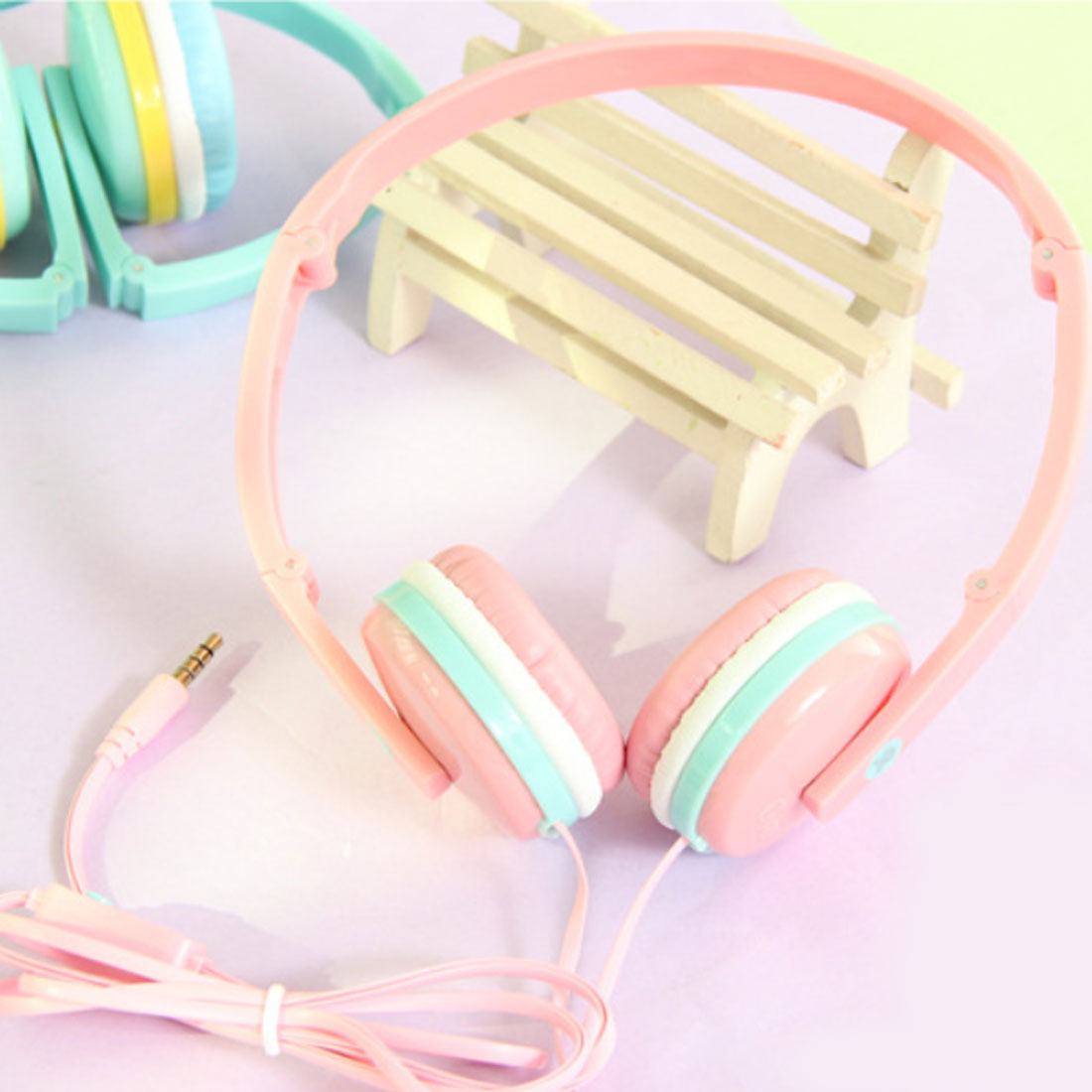 Marsnaska 100% Birthday Girl Children Gifts Cute Candy Color Foldable Kids Headset Earphone for Mp3 Smartphone for Xiaomi PC Lap
