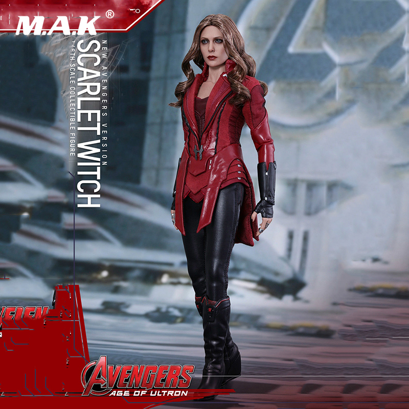 Original full set action figure MMS357 Avengers:Age of Ultron 1/6th Scarlet Witch Wanda Django Maximoff Figure doll Model original full set action figure mms357 avengers age of ultron 1 6th scarlet witch wanda django maximoff figure doll model