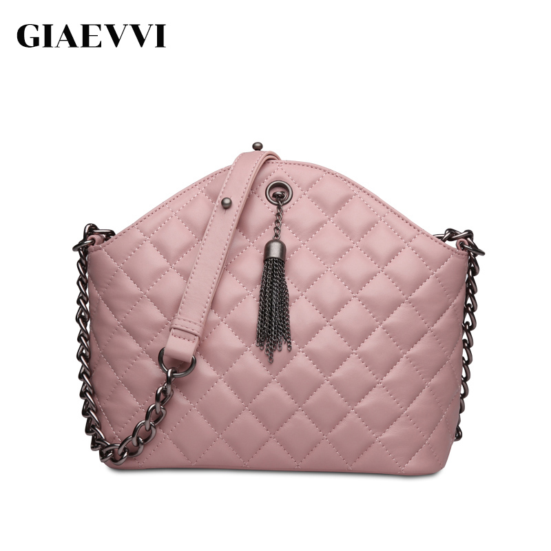 GIAEVVI 2017 brand women shoulder bag ladies crossbody luxury handbags genuine leather handbag shell bag women messenger bags giaevvi luxury handbags split leather tote women messenger bags 2017 brand design chain women shoulder bag crossbody for girls
