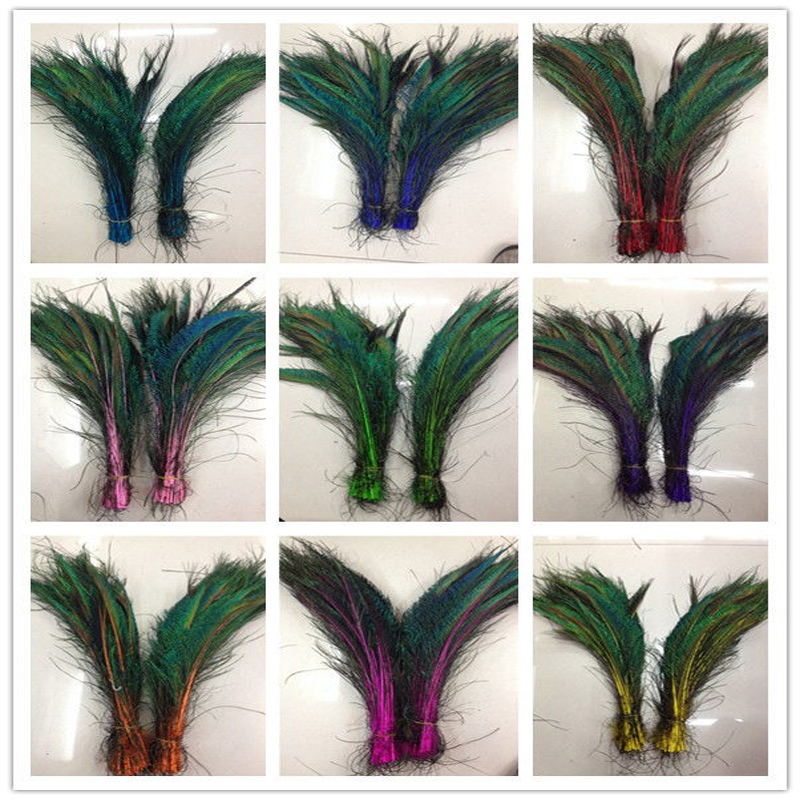 Wholesale 10-100pcs Peacock Feather Sword 12-14 Inches//30-35cm Left And Right