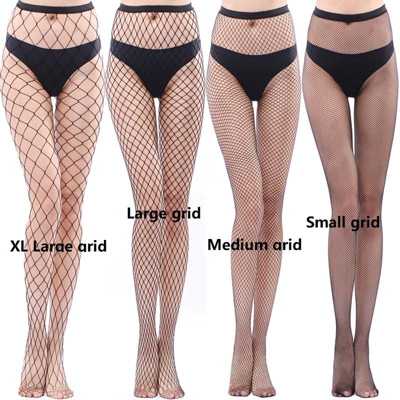 Women's Long Sexy Fishnet Stockings Fish Net Pantyhose Mesh Stockings Lingerie Skin Thigh High Stocking Women Hollow