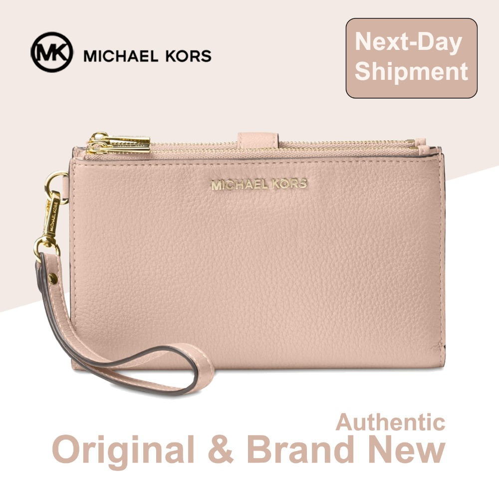 Detail Feedback Questions about Michael Kors Adele Double Zip Pebble  Leather Phone Wristlet Luxury Handbags For Women Bags Designer by MK on  Aliexpress.com ...
