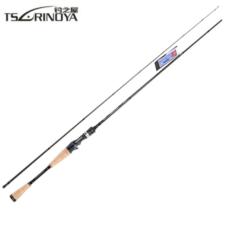 TSURINOYA ELITE II 1.95m 1.98m 2.13m Casting Rod 2 Section Carbon Casting Lure Fishing Rod Varas De Pesca Saltwater Fishing Rods цены