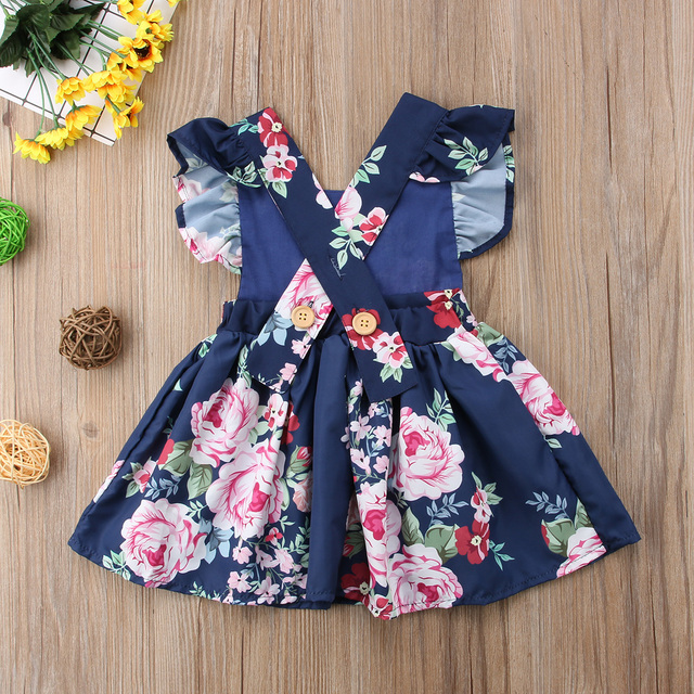 Baby Girls Clothes Flower Backless Clothing