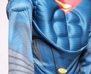 Image 5 - Purim Luxo com a Musculatura Superman Traje De Natal Crianças Criança Trajes de Festa Do Dia Das Bruxas Carnaval Trajes Cosplay
