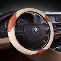 Hand-stitched Black Leather Steering Wheel Cover for Toyota Corolla RAV4 2011 2012 Car Special