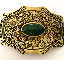 Reinem Kupfer Glänzende Vintage Antiken Gürtel Schnalle Messing & Jade Western Cowboy Herren Mode Feine Zubehör