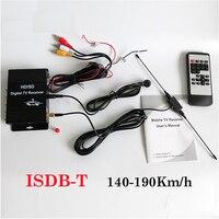 Freies Verschiffen 140-190 km/std ISDB-T Brasilien Einem Seg Auto Digital TV Receiver HD 1080 P TV Tuner für auto