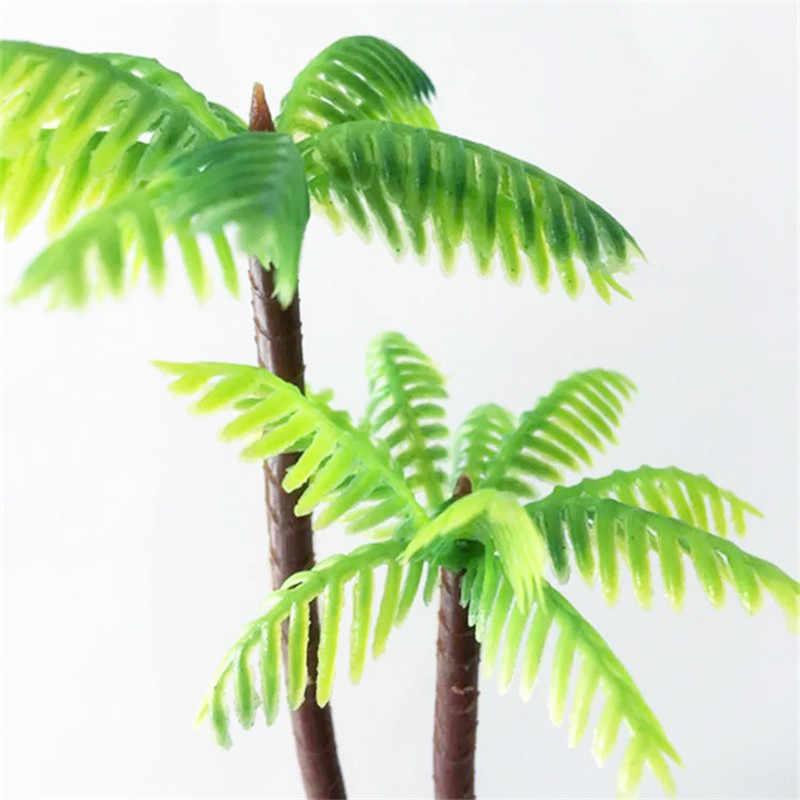 Моделирование Пластиковые Мини кокосовое дерево Искусственные растения аквариум ландшафтное украшение поддельные растения бонсай ремесло Домашний Декор 52808