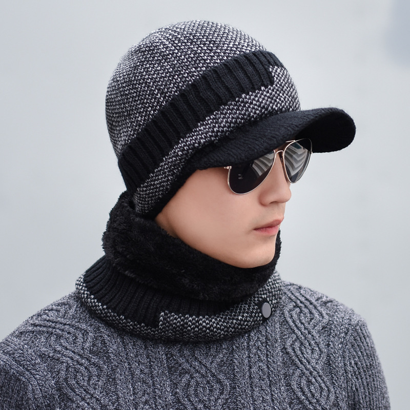 d5f5896e2a6 2018 Fashion Hats For. oZyc Winter Beanie Knitted Hat Scarf Skullies  Beanies Men Winter .