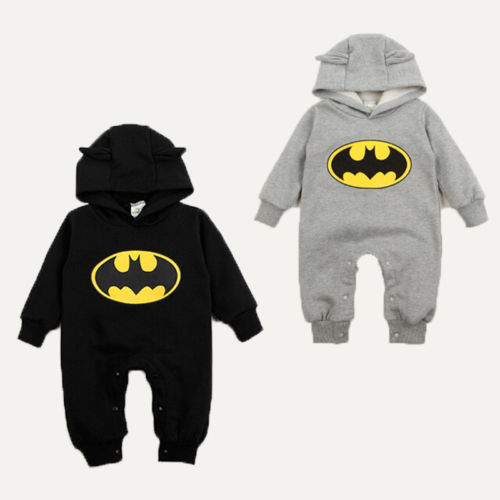 newborn baby boy girl clothes Batman autumn rompers one pieces baby unisex romper Infant boys girls Long Sleeve Jumpsuits newborn infant baby boy girl cotton romper jumpsuit boys girl angel wings long sleeve rompers white gray autumn clothes outfit