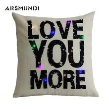 Words Quotes Pillow Case Love Pillowcase Letter Cotton Linen Cover Vintage Bedroom Home use Decorative 45cm