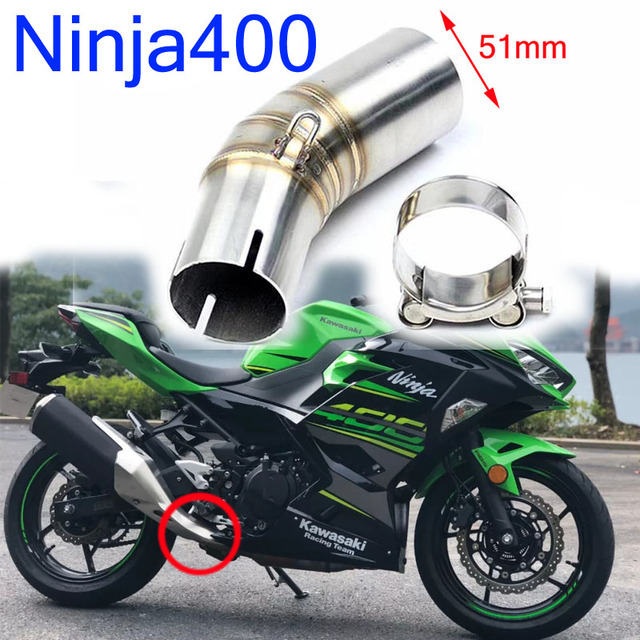 US $15 59 32% OFF|For Kawasaki Ninja 400 Z400 2018 2019 Years Motorcycle  Exhaust Middle 51mm Link Pipe Stainless Steel 304 Bend Tube-in Exhaust &