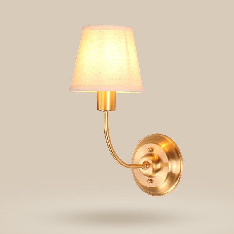 2017 new  European study lighting village dining room  bedroom bedside copper wall lamp цена 2017