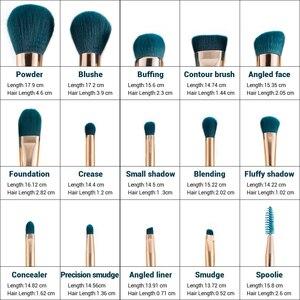 Image 5 - Jessup pincéis de maquiagem conjunto 15 pçs azul/roxo pó sombra delineador contorno fundação cosméticos pincel maquiagem dropshipping