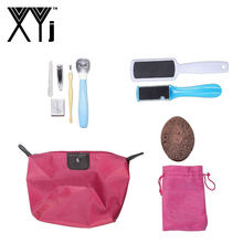 XYj Pedicure Kit Foot Care Tools Set Foot File Pedicure Rasp Callus Remover Shaver Kit Dead Skin Manicure Set Toe Nail Clipper(China)