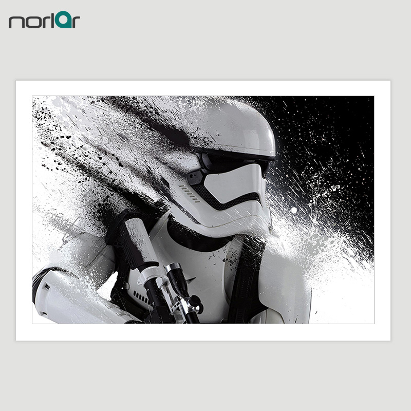 Unframed Printed Star Wars Stormtrooper Movie Poster Canvas Painting Wall Pictures For Living Room Decorative Poster Canvas image