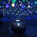 La Estrella del LED de Iluminación de Color Cambiante de La Lámpara Romántica Habitación Giratoria Luna Cielo Nocturno Lámpara de Proyección de Luz Blanco Cálido De Cabecera Del Niño