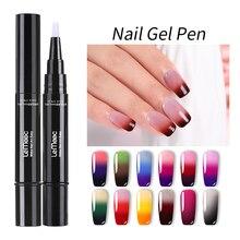 LEMOOC 5ml Thermal Gel Nail Polish Pen Temperature Color Change Soak Off UV Gel Varnish Hybrid Nail Semi Permanent Gel Polish