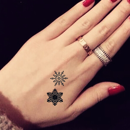 f7a206956 TMS-17 Sexy black snowflake tattoo temporary stickers women sticker on body  sticker tattoo