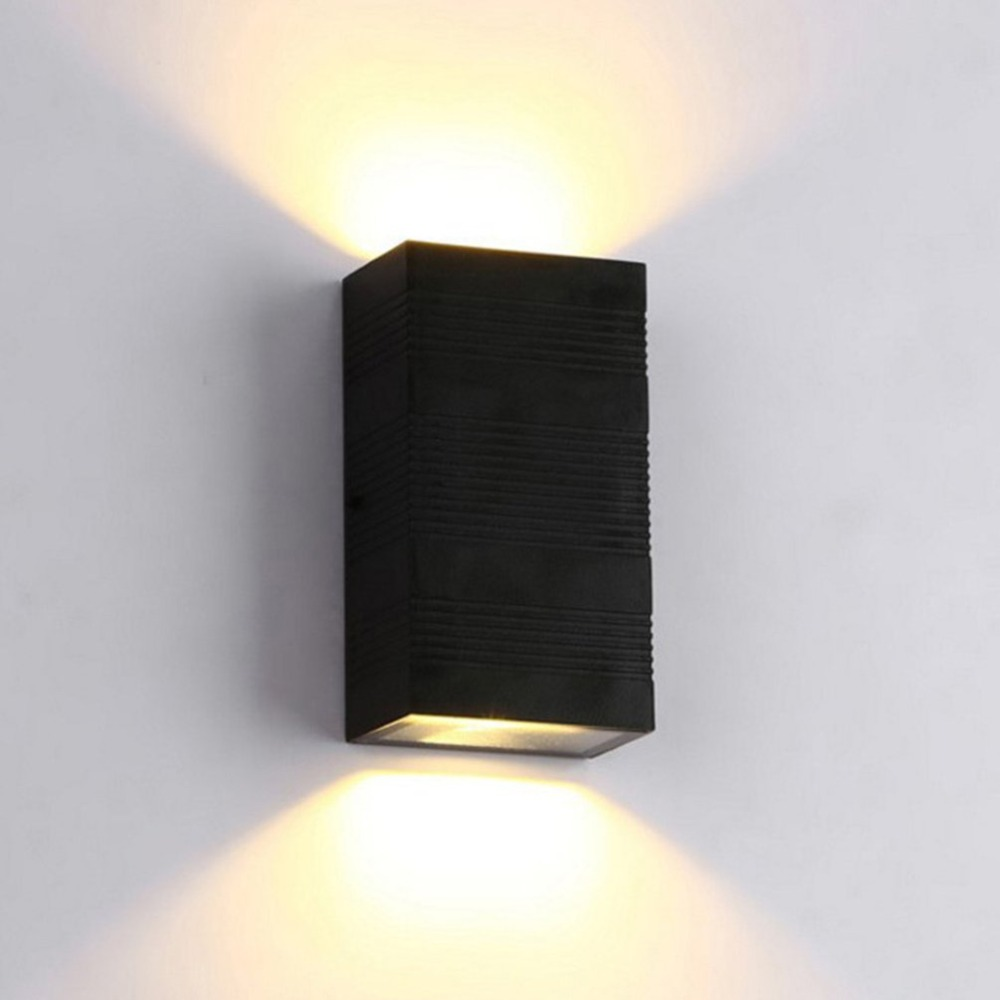 2X3w Rectangle LED Wall Light Bedroom Porch Hotel Sconces Lamp Waterproof for Living Room Home Decor Wholesale Sale