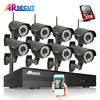 8CH NVR Kit 3TB HDD Onvif H 264 1080P 2MP Wireless WIFI Network IP Camera CMOS