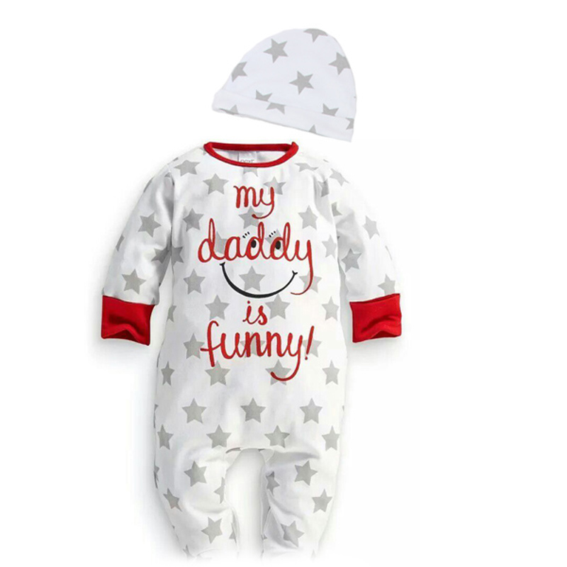 Long sleeve baby rompers love mama papa boys girls babies clothes newbron cotton clothing one pieces body suit 2015 spring baby rompers love mama papa boys girls babies clothes newbron cotton clothing with hat one pieces body suit