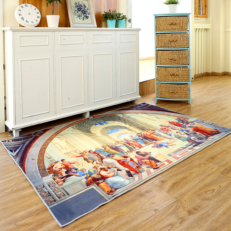 van gogh painting carpets for living room home bedroom rugs and