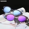 Gafas de Sol polarizadas Unisex Ronda Retro gafas de Sol UV400 Gafas de Sol de La Vendimia Mujeres Diseñador de la Marca Anti-Reflectante Gafas de Sol