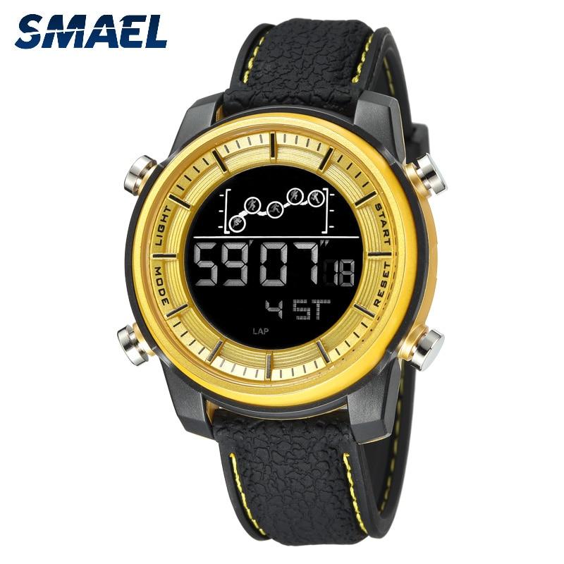 SMAEL Top Brand Men Watch Waterproof 50m Smart Digital watch sport military army Clock Men Silicone Casual Wristwatch