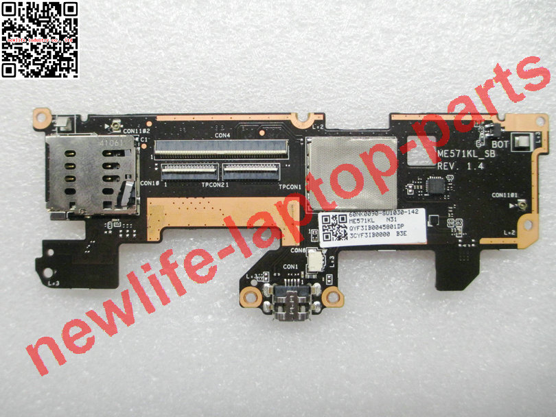 original For Nexus 7 ME571KL charger USB touch control board ME571KL_SB REV 1.4 60NK0090-SU1030 test good free shipping ballu bwh s 100 nexus