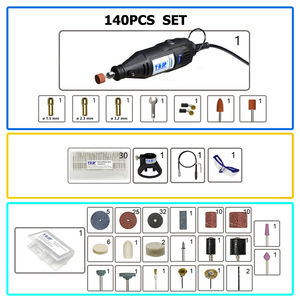 Image 4 - TASP 220V 130W Electric Mini Drill Set Rotary Tool Kit Variable Speed Engraver  with 140pcs Accessories & Attachments